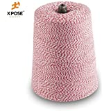Xpose Safety Baker's Twine Cone, Red and White, 2 lb Cone (10,080 Feet)