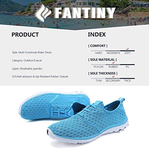 CIOR FANTINY Frauen und Männer Wasser Schuhe schnell trocknende Mesh Slip-On Sportliche Sport Casual Sneakers Blau-1