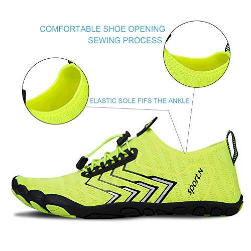 Water Shoes for Men and Women Barefoot Quick-Dry Aqua Sock Outdoor Athletic Sport Shoes for Kayaking, Boating, Hiking, Surfing, Walking