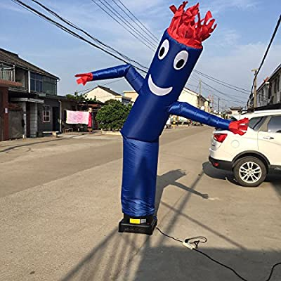 20ft Advertising Inflatable Tube Man Blow Up Giant Waving Arm Fly Puppet Christmas Halloween Decorative Signs for Business Store Party Club-Designed for 18