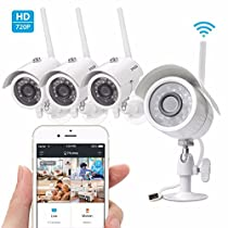 4 HD IP Wireless Outdoor or indoor IR Night Vision Home Security Camera System