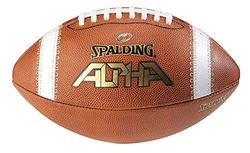Spalding Alpha Leather Football, Light Brown/Red, Full Size by Spalding (Image #1)