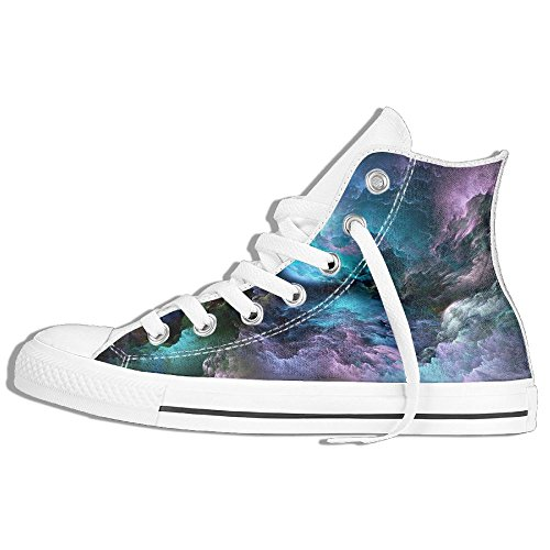 Classic High Top Sneakers Canvas Shoes Anti-Skid Artistic Casual Walking For Men Women White KeN0Yex