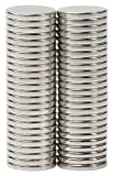 """BYKES N42 Neodymium Super Strong Extremely Powerful Rare Earth Refrigerator Magnets 1/2"""" X 1/16"""" Disc - Set of 50"""