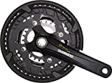SHIMANO Alivio 9-Speed Mountain Bicycle Crank Set - FC-T4010-48 (Black - 175MM OCTALINK, 48X36X26T W/CG)