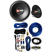 2) JBL CS1214 12 2000W Car Subwoofers Power Subs Audio Woofers 4 Ohm SVC Black W/ 4 GAUGE AMP KIT