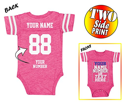 Tee Miracle Custom Jerseys for Babies - Make Your OWN Jersey Onesie - Personalized Baby Onesies & Newborn - Baby Infant Custom Bib