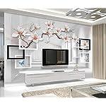 LIWALLPAPER-Carta-Da-Parati-3D-Fotomurali-Edificio-Bianco-Fiore-Farfalla-Camera-da-Letto-Decorazione-da-Muro-XXL-Poster-Design-Carta-per-pareti-200cmx140cm