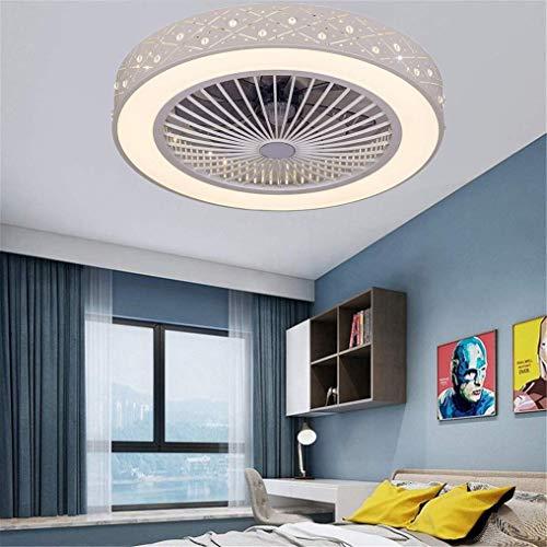 51HKndvIHmL. SS500 1. ajustable - La lámpara creativa ventilador de techo techo con mando a distancia y la iluminación; Velocidad del viento ajustable y regulable: cálida luz / luz blanca / luz blanca cálida. 2. Protección de los ojos - proporcionar una luz suave, sin brillo, sin interferencias de alta frecuencia, sin luz estroboscópica; ideal para la habitación de los niños, salón, dormitorio, cocina, iluminación del techo del restaurante viviente. 3. Fácil de instalar - Todo el hardware de montaje está incluido en el paquete, sin complicaciones adicionales; Potencia: 36W; Voltaje: 110-240 V AC; Tamaño: Ø 59 cm / 23 pulgadas.