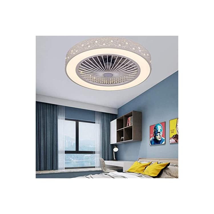 Ceiling Lamp Ceiling Fan with LED Lighting and Remote Control Quiet Fan Creative Invisible Ceiling Fans Lighting for…