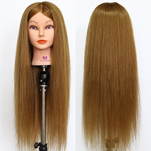 Neverland Beauty 70% 26''Brown Hair Salon Hairdressing Model Practice Training Head Mannequin With Clamp - Brown 26'