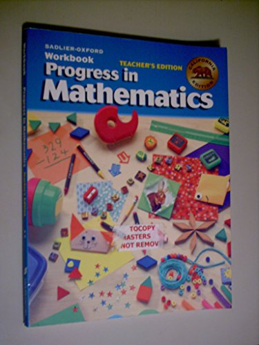 Sadler - Oxford Workbook Progress in Mathematiics - Teacher's California Edition - Grade 2