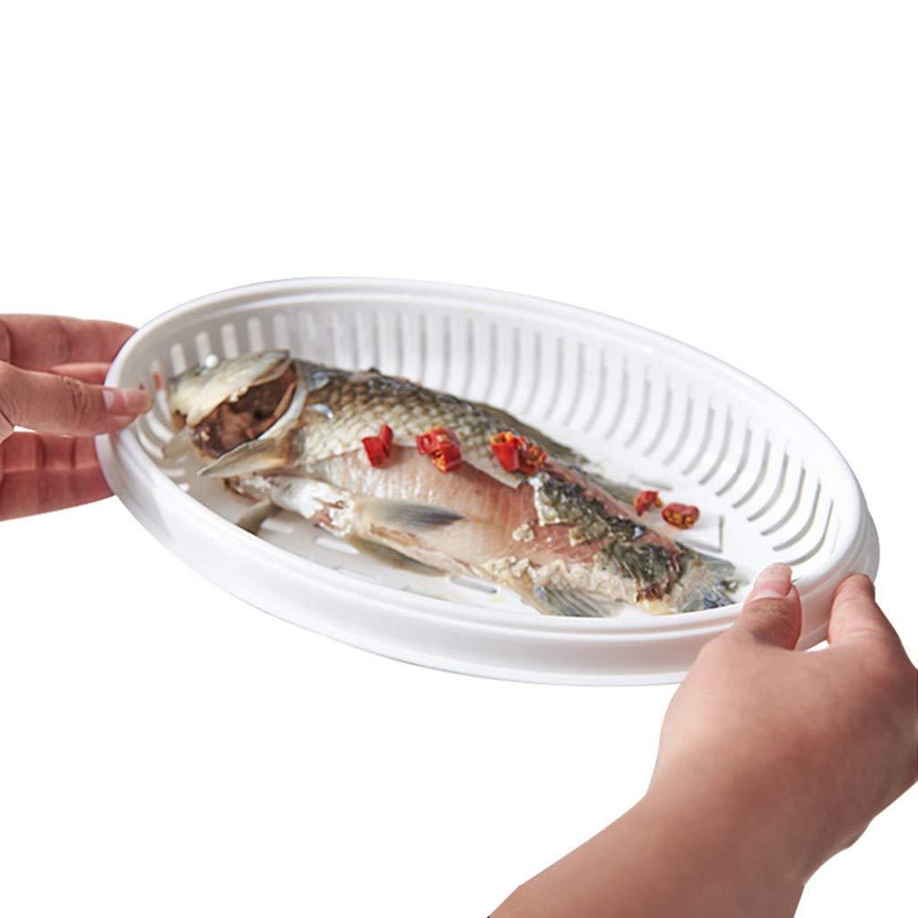 Yue668 Kitchen Craft Microwave Fish Steamer - Recipiente para ...
