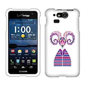 Fincibo (TM) Premium Hard Plastic Snap On Protector Cover Case Front And Back For Kyocera Hydro Elite C6750 - Mountain Goat