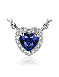 JewelryPalace 925 Sterling Silver Solitaire Pendant Necklace 18 Inches