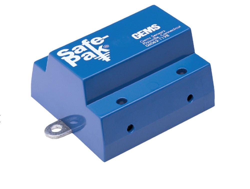 Gems Sensors 144600 Intrinsically Low Sensitivity Safe-Pak Relay, 105 to 125 VAC Voltage, 5A Current