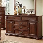247SHOPATHOME Bedroom set, King, Oak