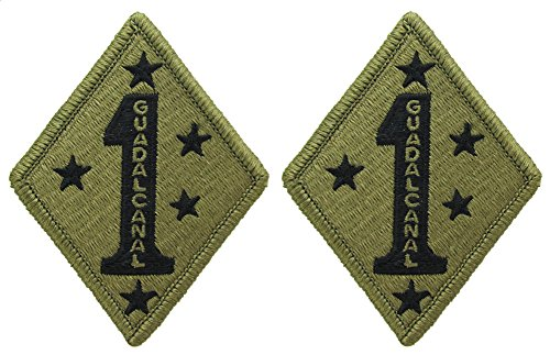 1st Marine Division OCP Patch GUADALCANAL - Scorpion W2 - 2 PACK