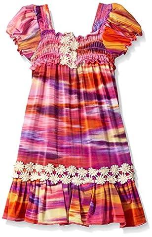 Elisabeth Little Girls' Toddler Smocked Dress, Pink, 3T