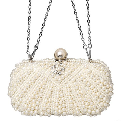 White Evening Envelope Beads Clutch Handbags Purse Crystal Fashion Rhinestone Bag Women vRwfPOwqx