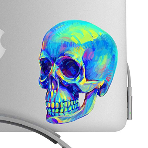 Beautiful Human Skull 5 Inch Decal- Artistic Full Color Post Impressionist Painted Style Decal - Fits All MacBooks, Laptops, Cars, and More! - For Indoor or Outdoor Use