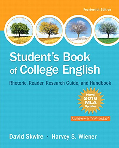 Student's Book of College English, MLA Update Edition (14th Edition) (Student Book Literature)