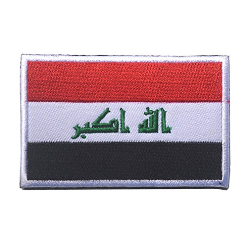 Iraq Flag Patch Embroidered Military Tactical Flag Patches