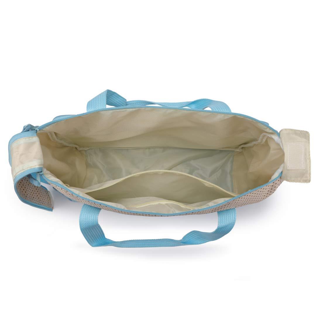 Kono Juego de 5 pa/ñales cambiadores de pa/ñales para beb/é//Mam/á Bolsa de Hombro//Pa/ñales Cambio Beb/é//Bolsa Termica para Biberones impermeables 6824 Azul