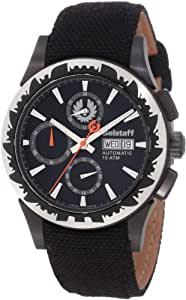 Belstaff BLF2007AA - Reloj cronógrafo automático unisex con correa de piel, color negro