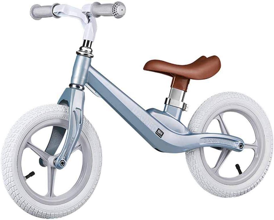 Equilibrio Duradero Bicicletas Infantiles del niño de Bicicletas, sin Pedal, Marco de aleación de magnesio, Asiento Ajustable, Primer Regalo de cumpleaños al Aire Libre de Interior ZHANGKANG