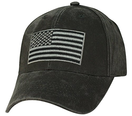 lack Cap With Subdued American Flag (Crest Banner Hat)