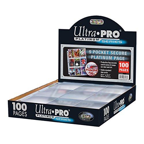 (Ultra Pro Platinum 9 Pocket Secure Platinum Cards, Clear)