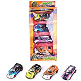MeterMall Toys for Iron Sheet Car Model Children Alloy Pull Back Pocket Car Model Set 4