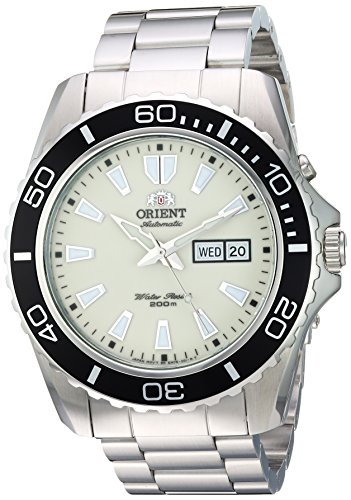Orient Men's Automatic Stainless Steel Diving Watch, Color:Silver-Toned (Model: FEM75005R9) (Long Island Watch)