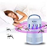 Liping 5W Indoor Outdoor Use Electric Powered Non-Toxic LED Mosquito Lamp-, Fly Bug Insect Killer for Porch Deck Patio Backyard Mosquito Killer Lamp (Blue)