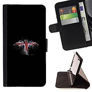 KingStore / Leather Etui en cuir / Apple Iphone 5C / Reino Unido Bandera del Grunge