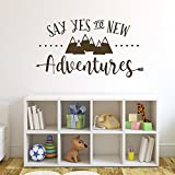 Say Yes to New Adventures | Mountains and arrows | Nursery Wall Sticker, Explorer Woodland Decor