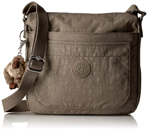 - Kipling Women's Sebastian Solid Crossbody Bag, Soft Earthy Beige