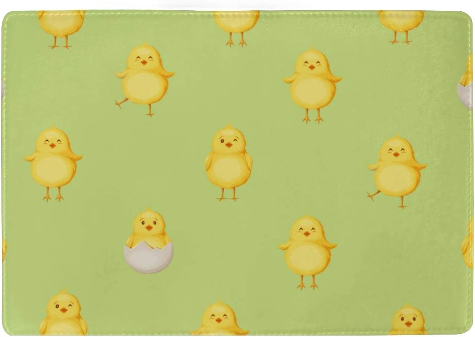 Passport Leather Cover Tiny Chicks In Various Poses On Pastel Stylish Pu Leather Travel Accessories Case Passport Holder For Women Men