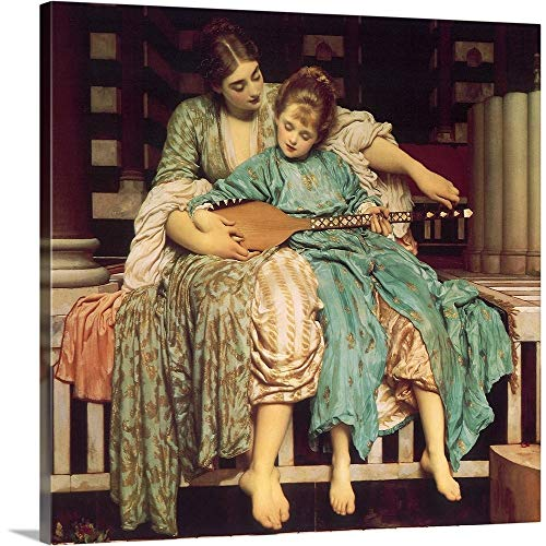 - GREATBIGCANVAS Gallery-Wrapped Canvas Entitled Mother Teaches Child by Frederic Leighton 35