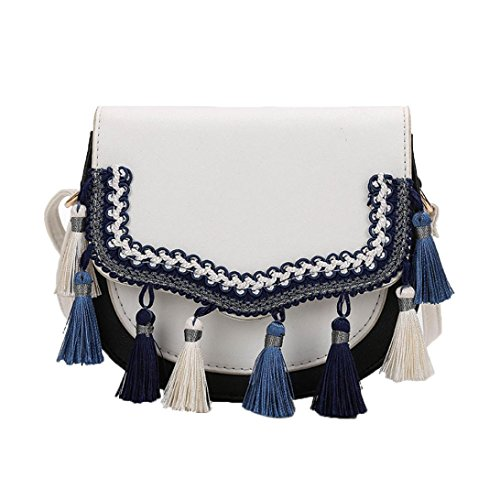 Over Flap Fring Tote Family Women Bag Crossbody White Purses Handbags Fashion Style Tassel Pocket Shoulder PzWxnq8Z