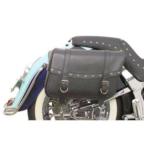 - Saddlemen X021-03-041 Large Rivet Highwayman Slant-Style Saddlebag