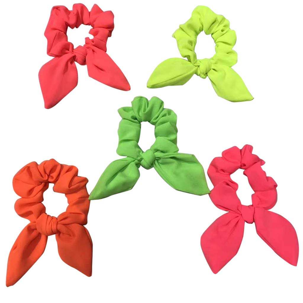 Womens Hair Bow Cloth Band Rope Scrunchie Ponytail Holder Accessories Scrunchies
