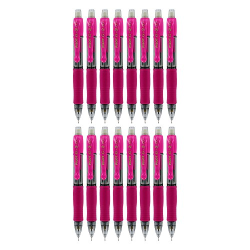 Pilot G2 Mini Retractable Mechanical Pencils, 0.7mm HB, Pack of 12 (Bulk Packaging) (Pink)