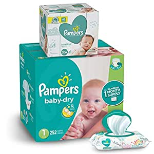 Amazon Com Pampers Diapers Newborn Size 1 8 14 Lb