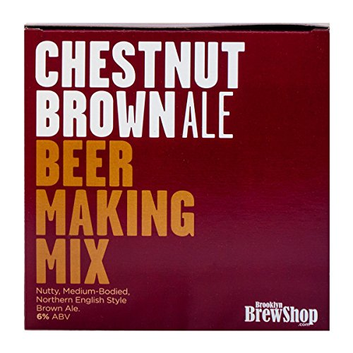 - Brooklyn Brew Shop Chestnut Brown Ale 1 Gallon All-Grain Beer Making Mix Including Hops and Yeast - Perfect for Brewing Craft Beer on Your Stovetop at Home