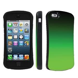 NakedShield Apple iphone 5C / 5S / 5 Gradient Neon Green Heavy Duty Shock Proof Armor Art Phone Case