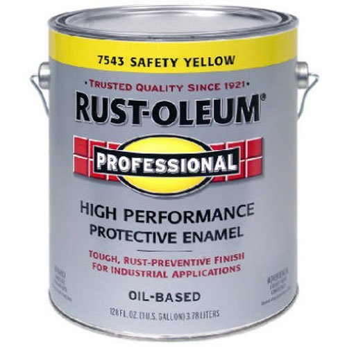 (RUST-OLEUM 242258 Professional Gallon Safety Yellow Finish)