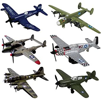 InAir WWII Planes 6-pc Set with Aircraft ID Guide - Assortment 1