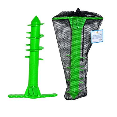 - Beach Umbrella Sand Anchor   Sand Auger   Beach Umbrella Holder for All Umbrellas with Mesh Carry Bag